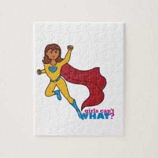 スーパーヒーローの女の子 ジグソーパズル