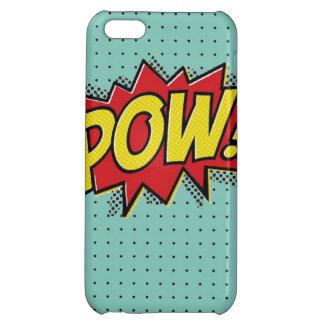 スーパーヒーローの捕虜の破烈のiPhoneの場合の青の水玉模様 iPhone 5C カバー