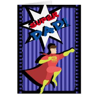 スーパーヒーローの父の日カード カード