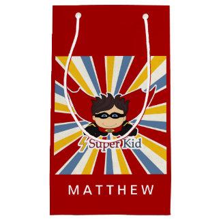 スーパーヒーローの男の子のための赤の小さい漫画本のテーマ スモールペーパーバッグ