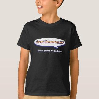 スーパーヒーローの青年単にTシャツ Tシャツ