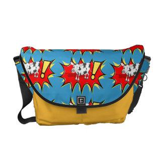 スーパーヒーローのKapow牛 メッセンジャーバッグ