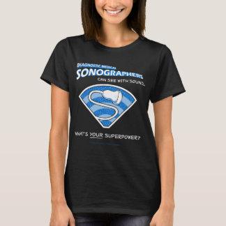 スーパーヒーローのSonographerのティー Tシャツ