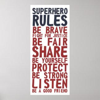スーパーヒーローは文字デザインな句ポスターを支配します ポスター