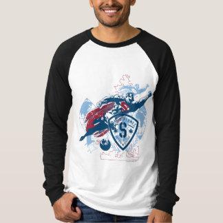 スーパーマンおよび地図 Tシャツ