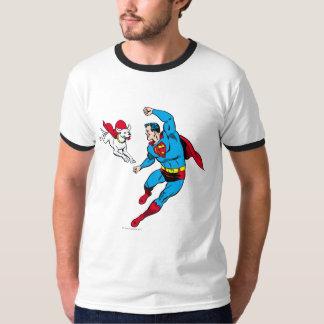 スーパーマンおよびKrypto 2 Tシャツ