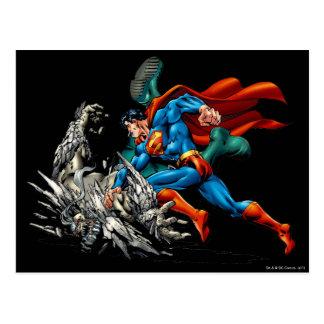 スーパーマンによってはモンスターが戦います ポストカード