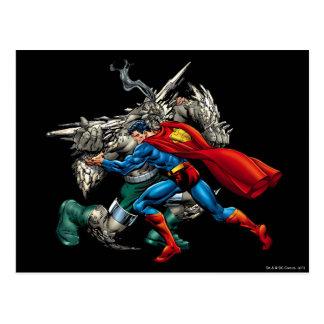 スーパーマンによっては敵が戦います ポストカード