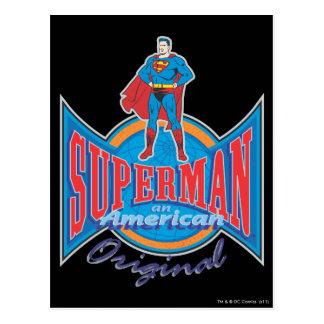 スーパーマンのアメリカ人のオリジナル ポストカード