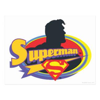 スーパーマンのシルエット ポストカード