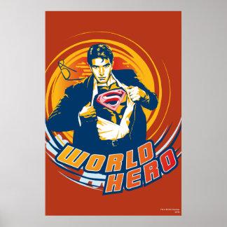 スーパーマンの世界の英雄 ポスター