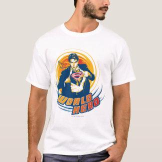 スーパーマンの世界の英雄 Tシャツ