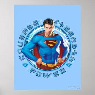 スーパーマンの勇気の強さ力 プリント