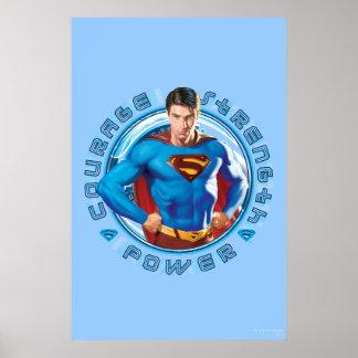 スーパーマンの勇気の強さ力 ポスター