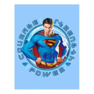 スーパーマンの勇気の強さ力 ポストカード