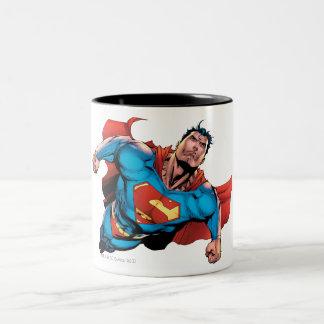 スーパーマンの喜劇的なスタイル ツートーンマグカップ