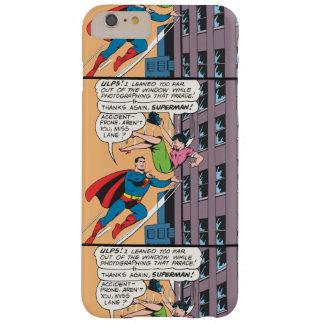 スーパーマンの喜劇的なパネル-事故を起こしがちなLois スキニー iPhone 6 Plus ケース