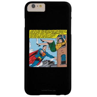スーパーマンの喜劇的なパネル- Loisを救うこと スリム iPhone 6 Plus ケース