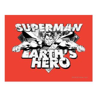 スーパーマンの地球の英雄 ポストカード