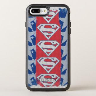 スーパーマンの星およびロゴ オッターボックスシンメトリーiPhone 8 PLUS/7 PLUSケース