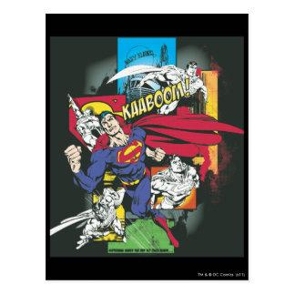 スーパーマンの漫画の黒 ポストカード