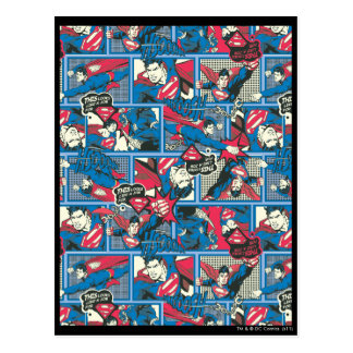 スーパーマンの漫画パターン ポストカード