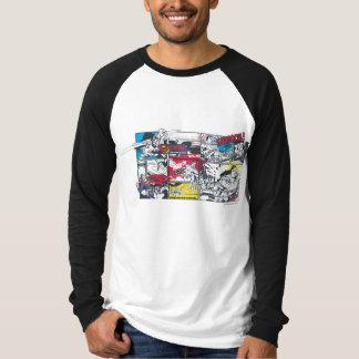 スーパーマンの漫画本のコラージュ Tシャツ
