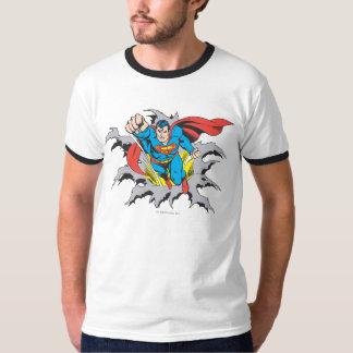 スーパーマンの破損 Tシャツ
