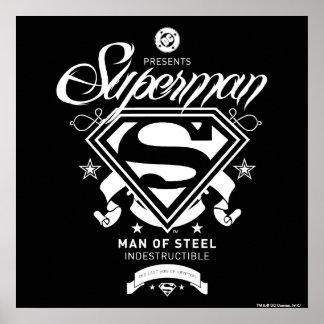 スーパーマンの紋章付き外衣 ポスター