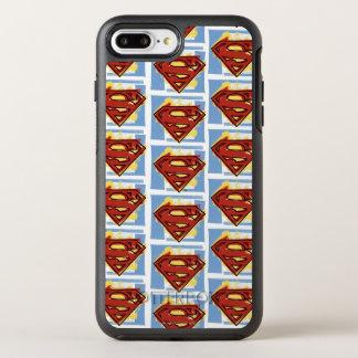 スーパーマンの赤くおよび青パターン オッターボックスシンメトリーiPhone 8 PLUS/7 PLUSケース