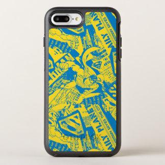 スーパーマンの黄色および青 オッターボックスシンメトリーiPhone 8 PLUS/7 PLUSケース