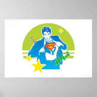 スーパーマンの80年代のスタイル ポスター