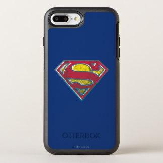 スーパーマンのS盾の|印刷されたロゴ オッターボックスシンメトリーiPhone 8 PLUS/7 PLUSケース