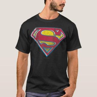 スーパーマンのS盾の|印刷されたロゴ Tシャツ