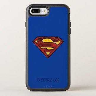 スーパーマンのS盾の|暗くされた赤いロゴ オッターボックスシンメトリーiPhone 8 PLUS/7 PLUSケース