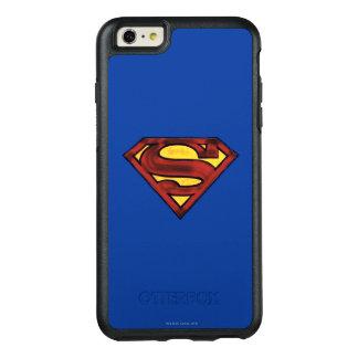スーパーマンのS盾の|暗くされた赤いロゴ オッターボックスiPhone 6/6S PLUSケース