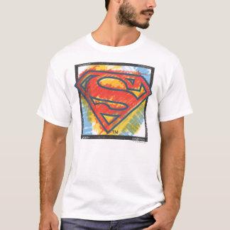 スーパーマンのS盾の|着色されたロゴ Tシャツ