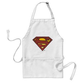スーパーマンのS盾の|衰退した点のロゴ スタンダードエプロン