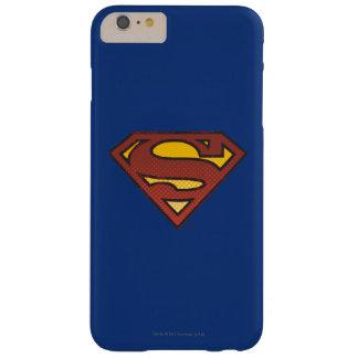スーパーマンのS盾の|衰退した点のロゴ iPhone 6 PLUS ベアリーゼアケース