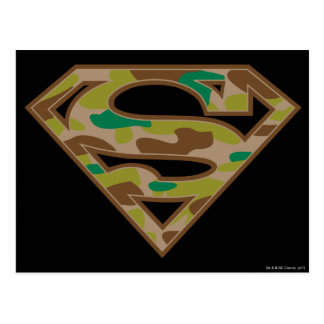 スーパーマンのS盾 のカムフラージュのロゴ ポストカード