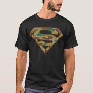スーパーマンのS盾|のカムフラージュのロゴ Tシャツ