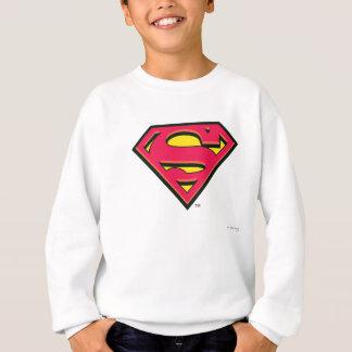 スーパーマンのS盾|のクラシックなロゴ スウェットシャツ