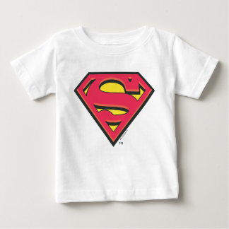 スーパーマンのS盾|のクラシックなロゴ ベビーTシャツ
