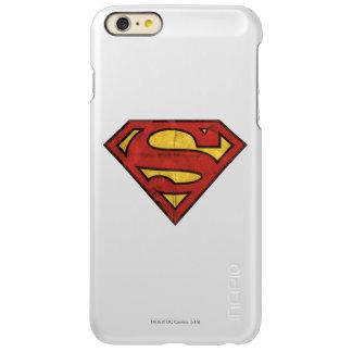 スーパーマンのS盾|のグランジで黒い輪郭のロゴ