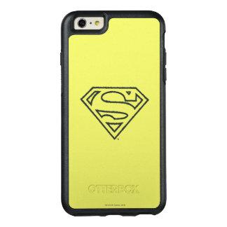 スーパーマンのS盾|のグランジで黒い輪郭のロゴ2 オッターボックスiPhone 6/6S PLUSケース