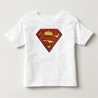 スーパーマンのS盾|のグランジなロゴ トドラーTシャツ