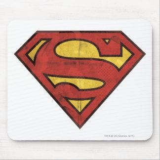 スーパーマンのS盾|のグランジなロゴ マウスパッド