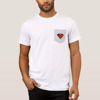 スーパーマンのS盾|のグランジなロゴ Tシャツ