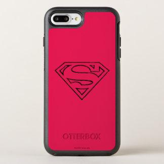 スーパーマンのS盾|のシンプルで黒い輪郭のロゴ オッターボックスシンメトリーiPhone 8 PLUS/7 PLUSケース