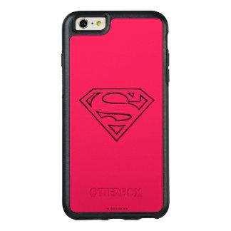スーパーマンのS盾|のシンプルで黒い輪郭のロゴ オッターボックスiPhone 6/6S PLUSケース